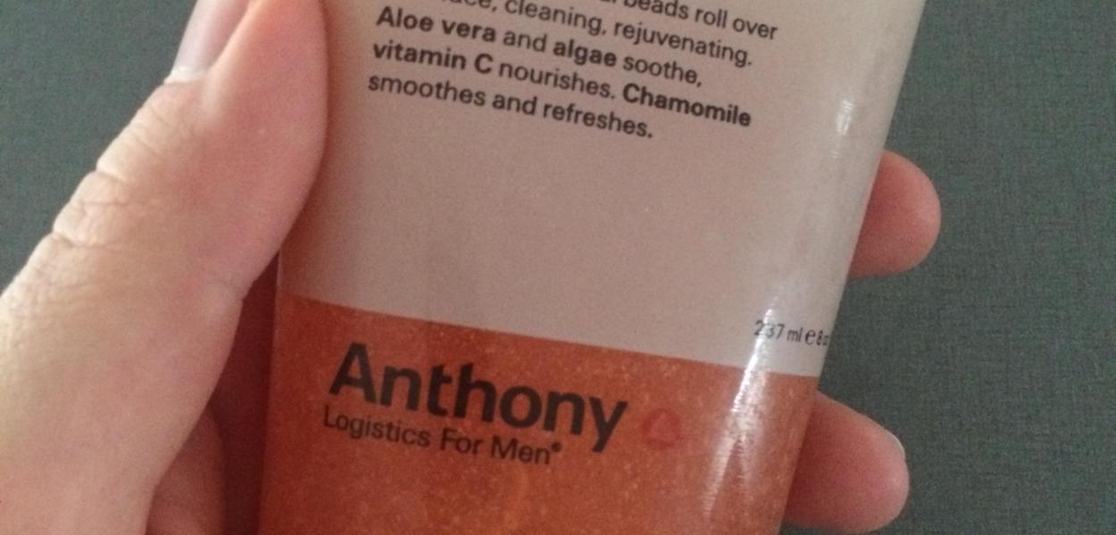 recensoion av anthony logistics for men skrubb för ansikte