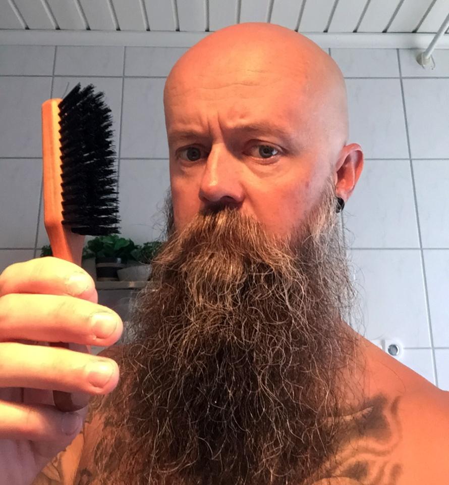 recension skäggborste