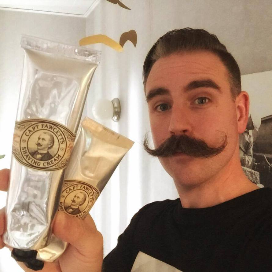 recension captain fawcett shave cream post shave balm