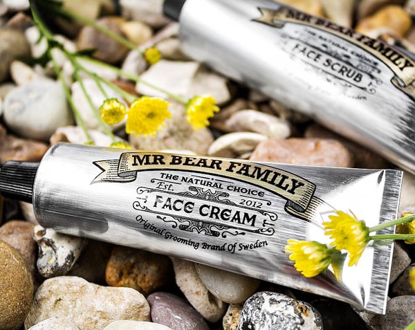 recension mr bear family face cream scrub