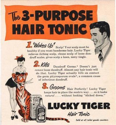 klassisk reklam för Lucky Tiger